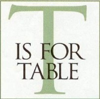 T is for Table logo